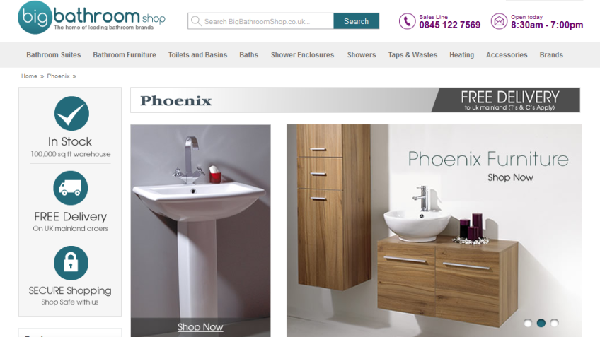 5% Off Phoenix Bathroom Furniture