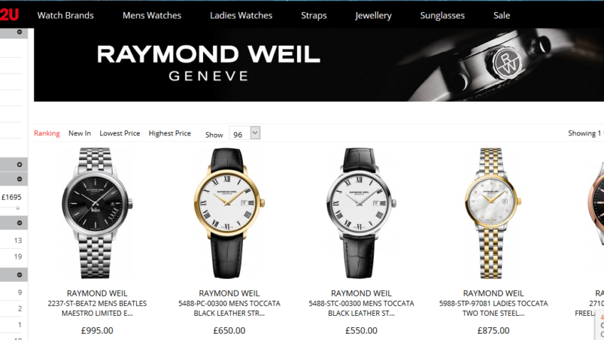 Watches2U - 15% Off Raymond Weil Watches