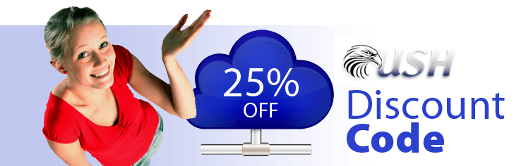 25% OFF Web Hosting Plans at USH Internet