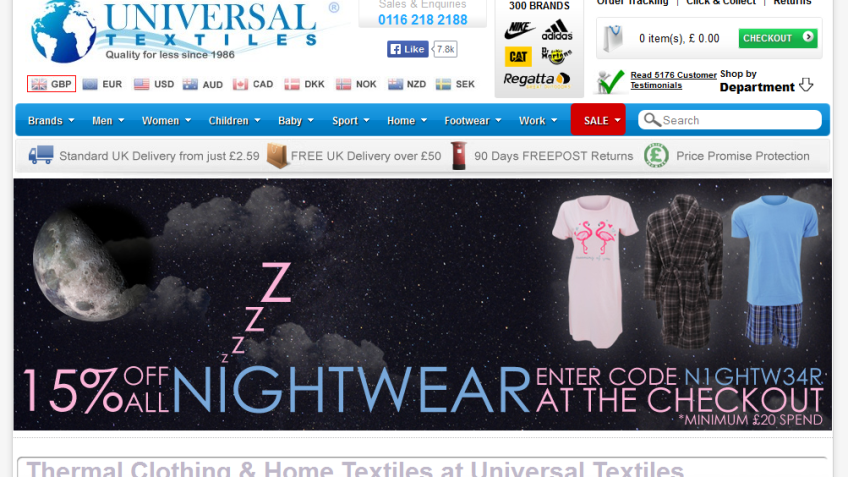 15% Off All Nightwear - Min Spend £20