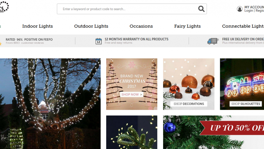 15% off everything at Festive Lights on Black Friday