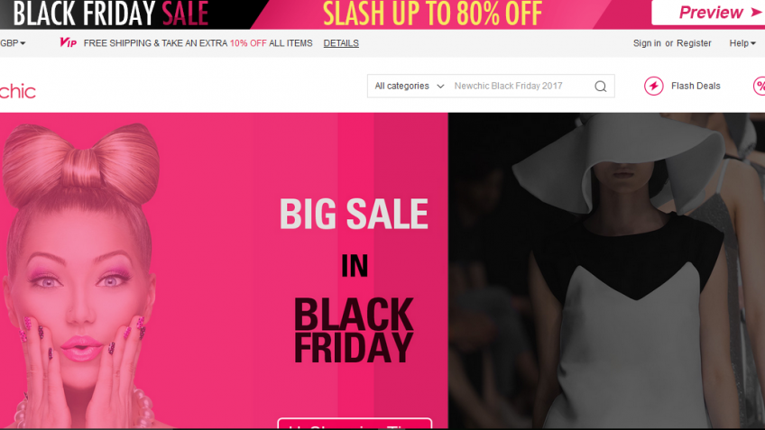 Black Friday-Up To 80% Off at Newchic UK
